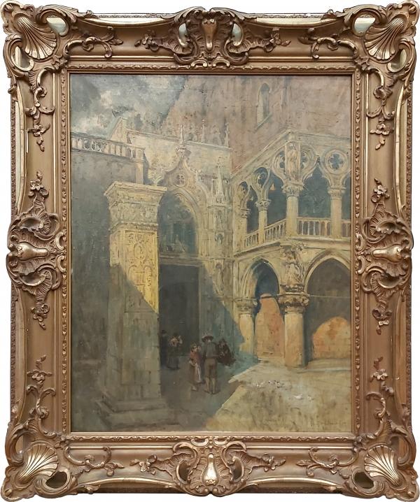 """Гремани Гвидо """"Вход во дворец Дожей в Венеции"""""""