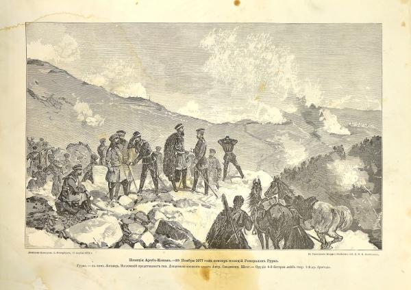 """""""Позиция Араб-Конак – 20 ноября 1877 года, осмотр позиции генералом Гурко"""""""