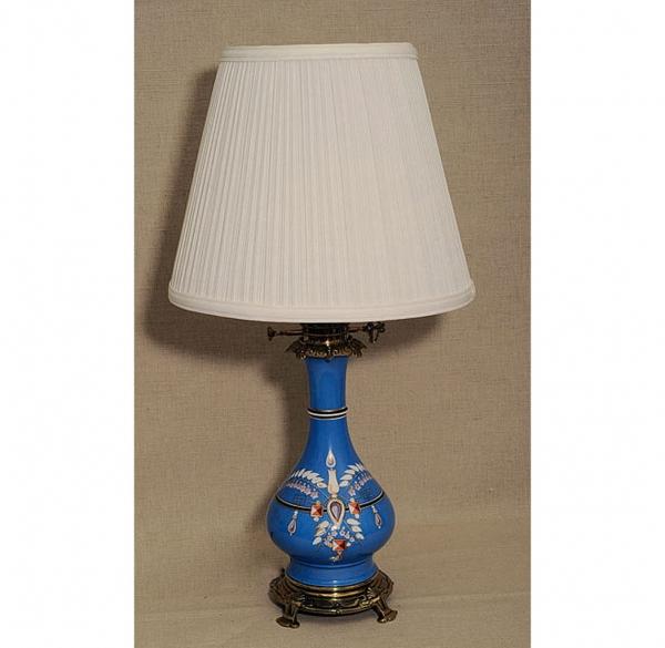 Пара французских фарфоровых масляных ламп