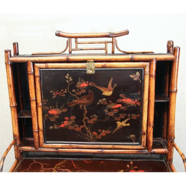 Викторианская этажерка-бюро