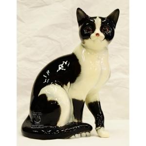 Антикварная фарфоровая фигура «Сидящий кот»