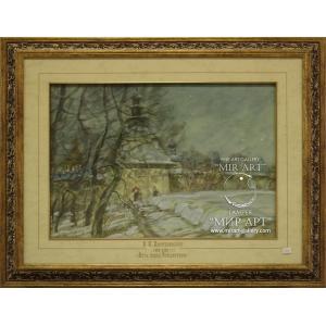 "Soviet and Russian artist-painter Viktor Konstantinovich Dmitrievsky (1923 - 2006) ""The Night Before Christmas"""