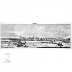 """Antique engraving """"Holy Land - Ramallah"""" (Rama - overview view)."""