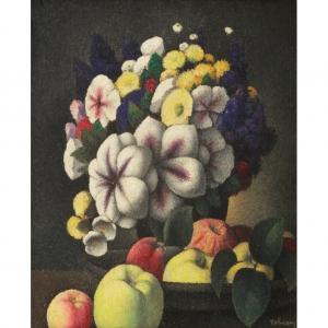 """Французский живописец и гравер Тобеен (Феликс Эли Бонне) (1880 - 1938) """"Букет"""""""