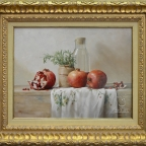 Лавренюк Олег натюрморт «Красный гранат - символ богатства, изобилия и плодородия»