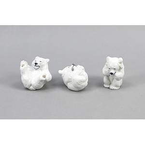 """«Антикварные фарфоровые статуэтки """"Три азартных медвежонка""""»"""