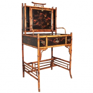 Bookcase and bureau in the Chinese style