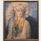 """""""Portrait of a young Russian girl in traditional dress"""""""