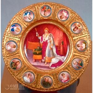 Decorative table depicting Napoleon 1