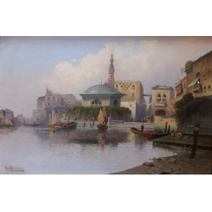«Бухта Золотой рог в Константинополе»
