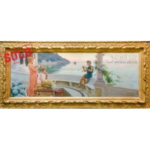 """Итальянский живописец Аугусто Ловатти (1852-1921) """"Вечерняя мелодия"""""""